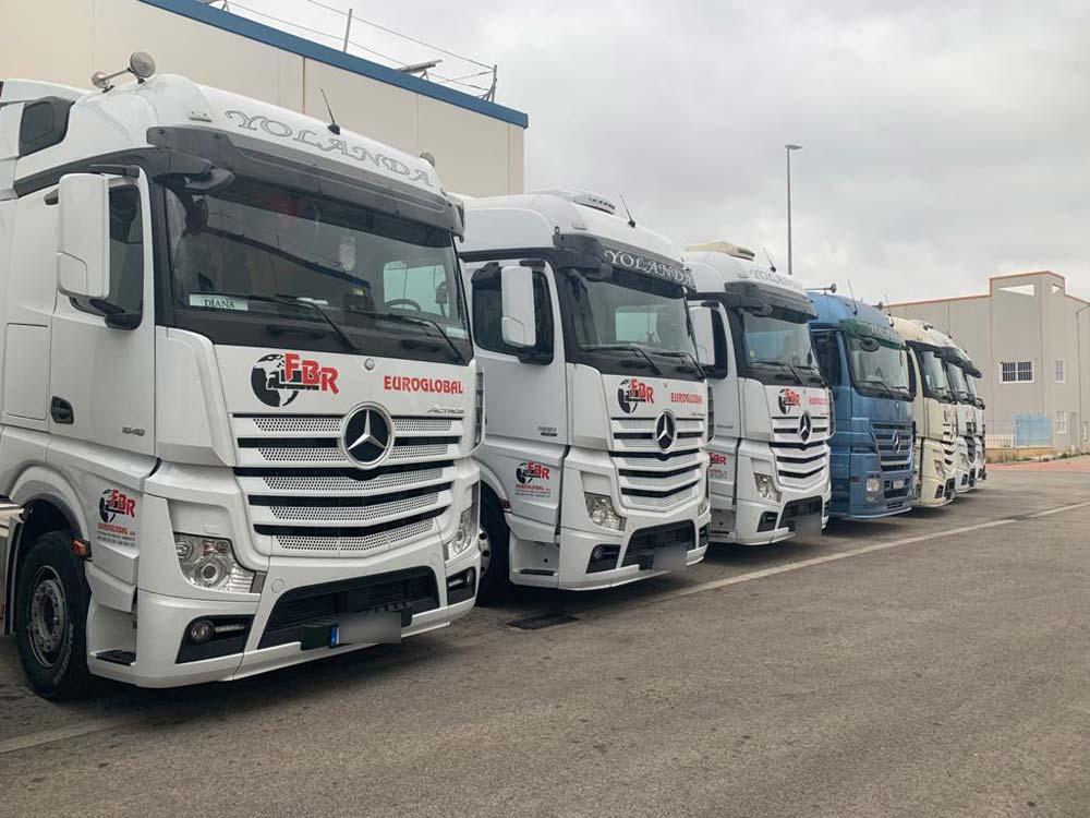 Rótulos para flotas de camiones de transporte
