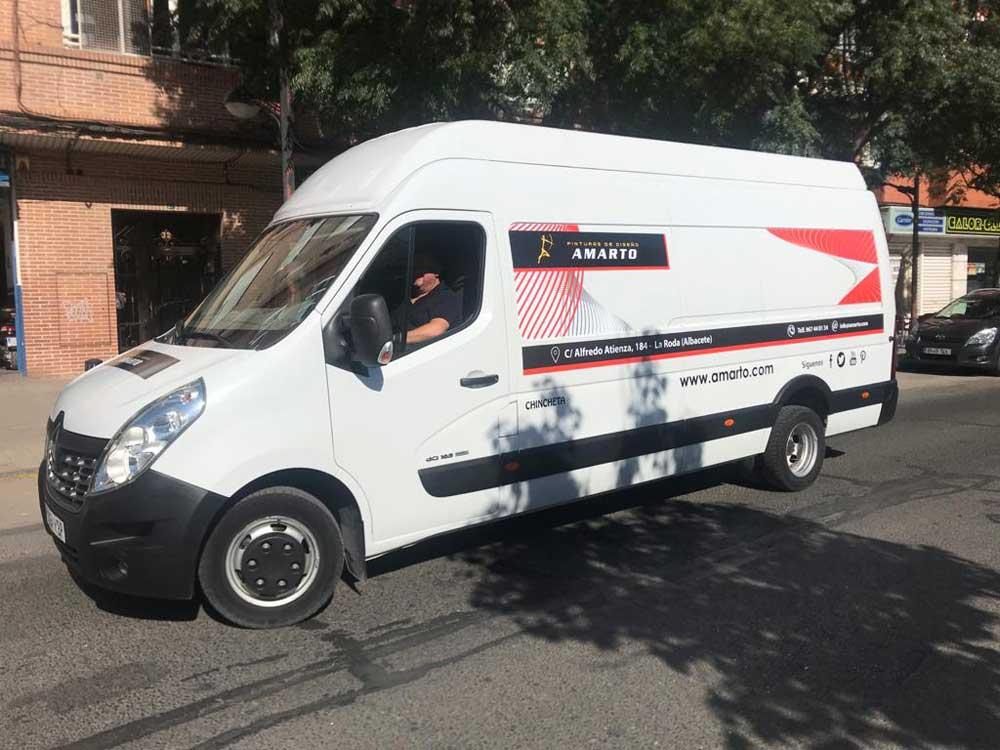 Rotulación en furgoneta grande Albacete